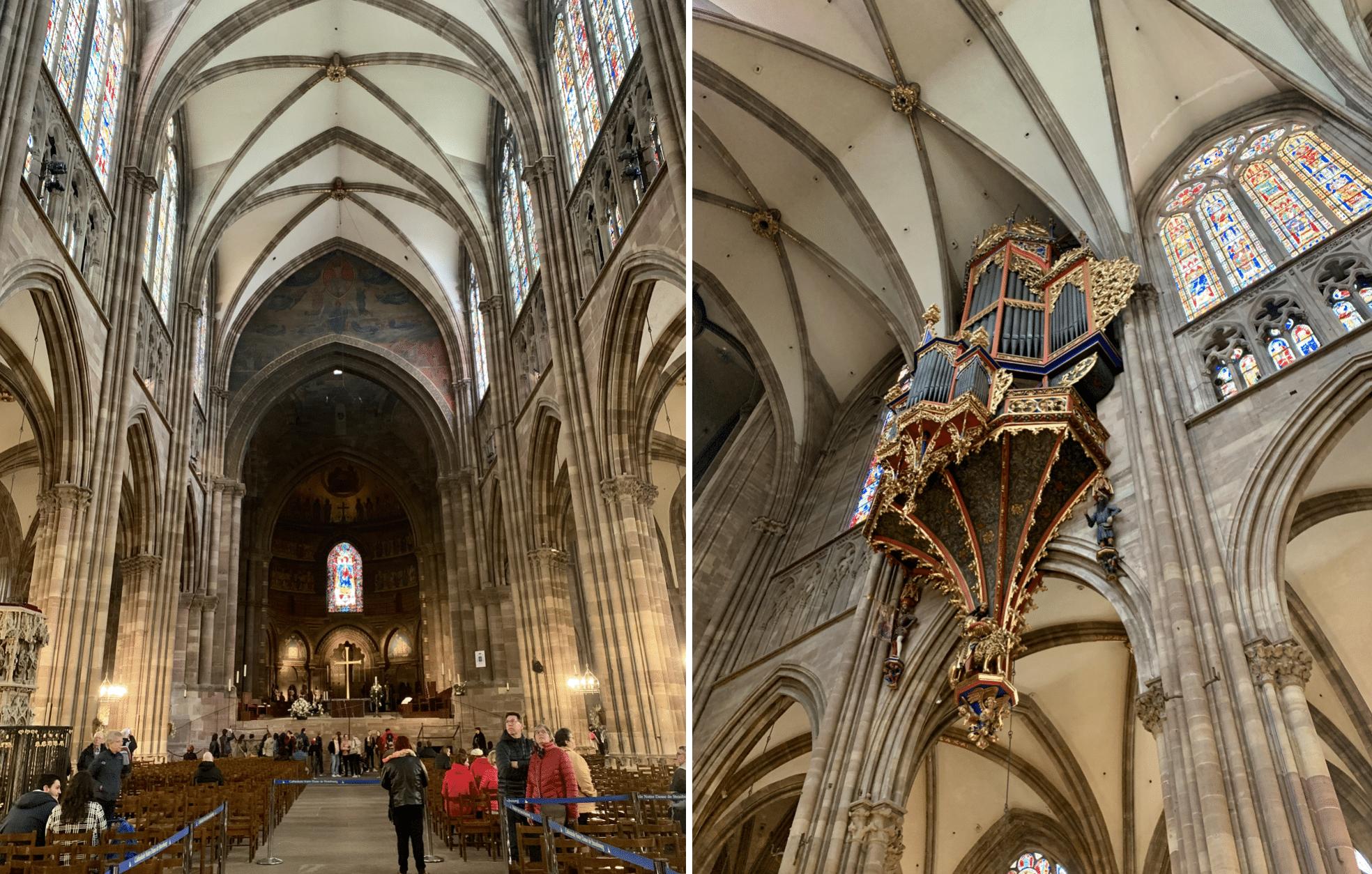 l'interieur de la cathedrale notre dame de strasbourg
