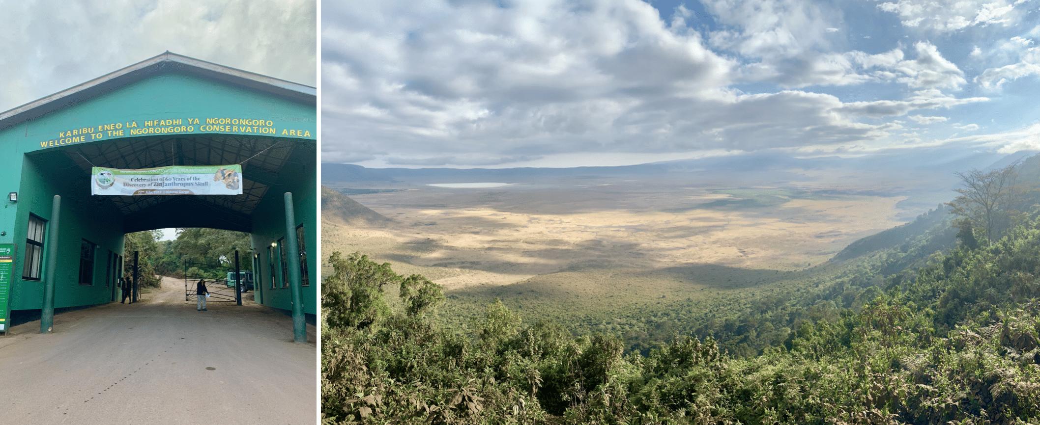 entree dans la zone de conservation du ngorongoro
