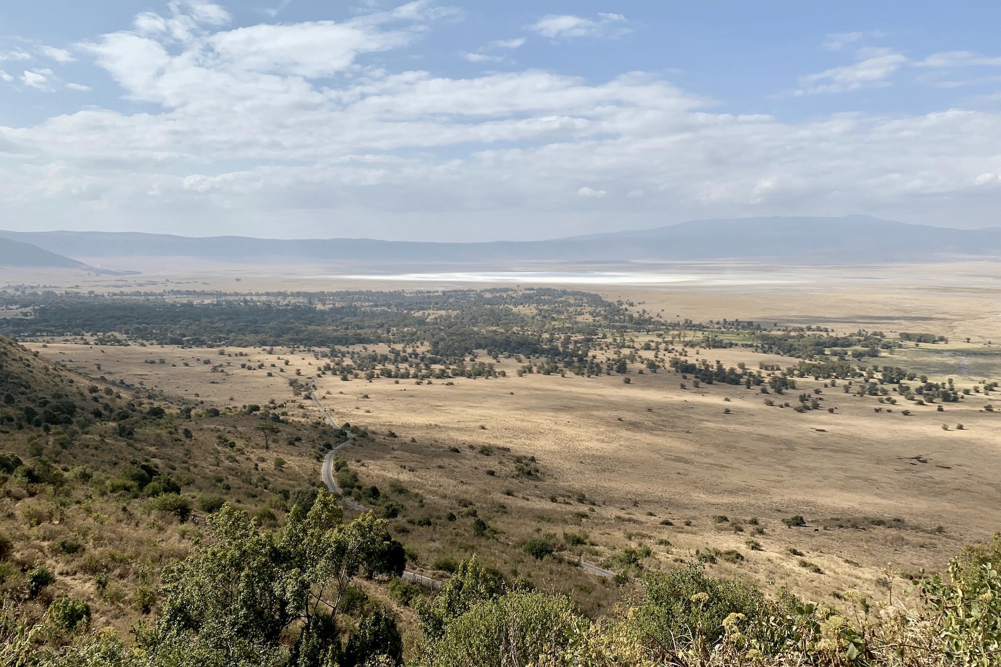 safari en tanzanie : vue sur le cratere du ngorongoro