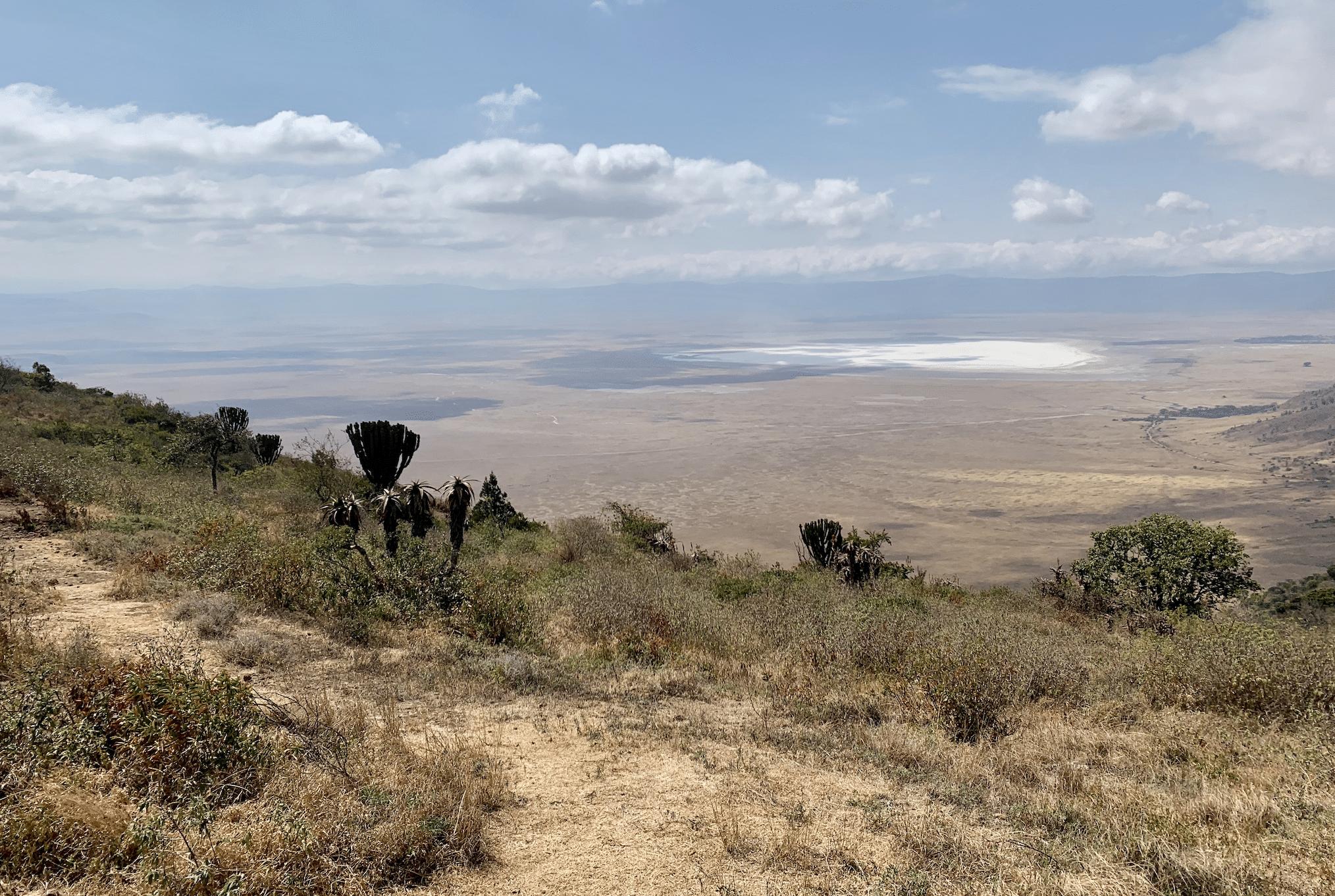 vue sur le cratere du ngorongoro