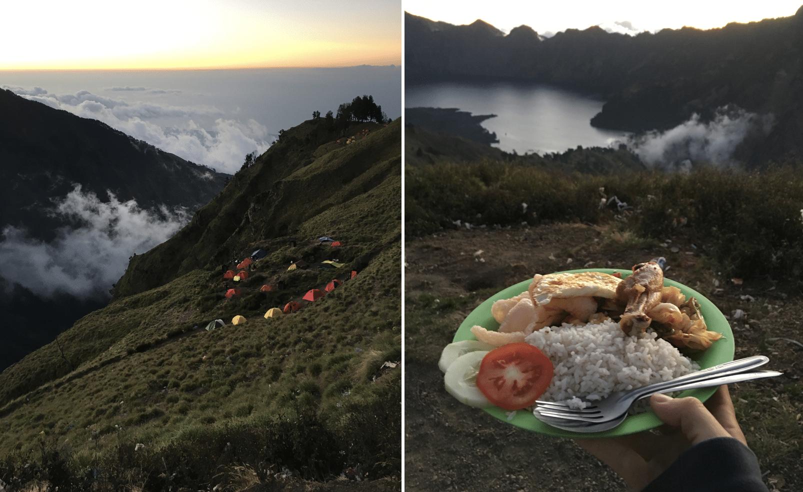 campement sur le mont rinjani