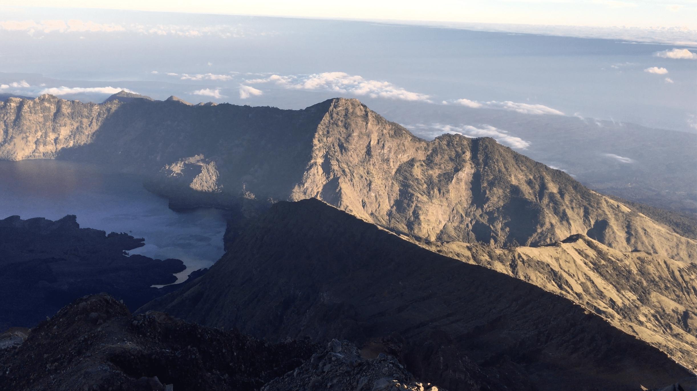 crete du mont rinjani a lombok
