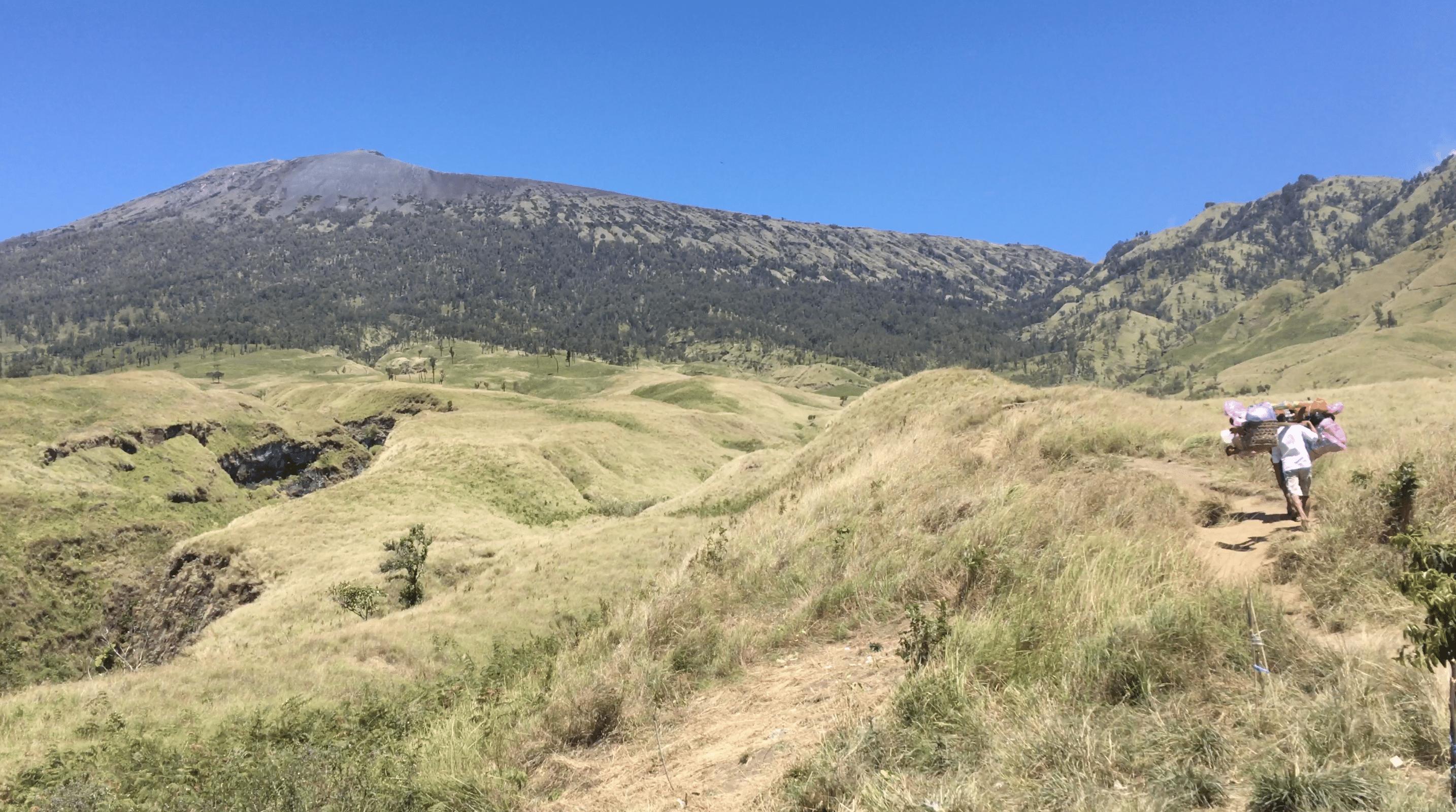 jour 1 du trek sur le mont rinjani