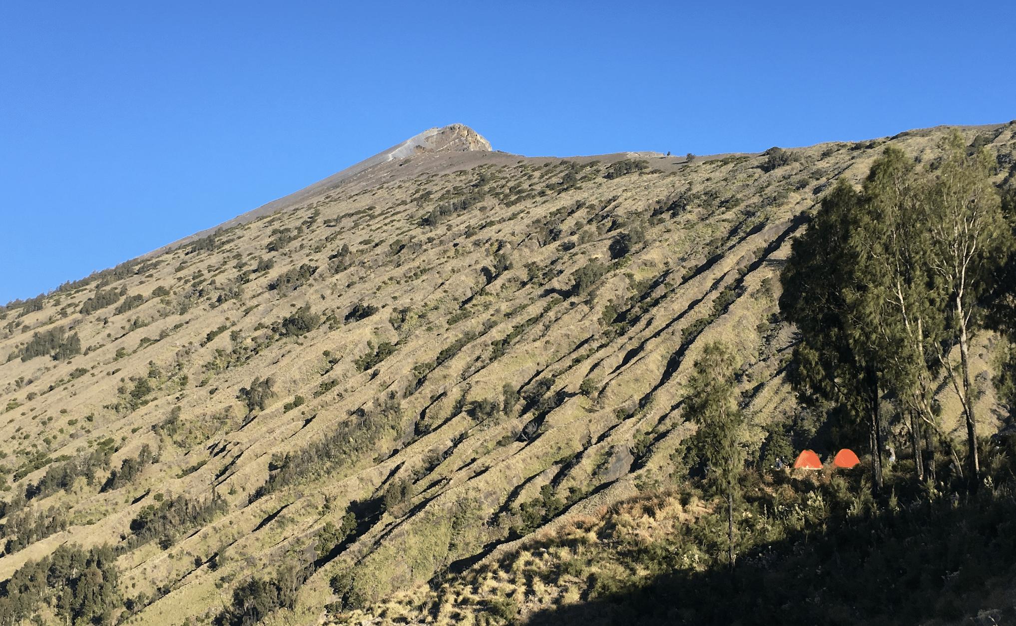 sommet du mont rinjani a lombok