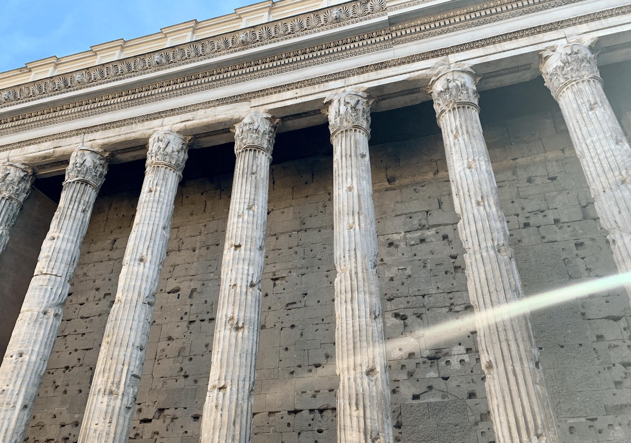 le temple d'hadrien