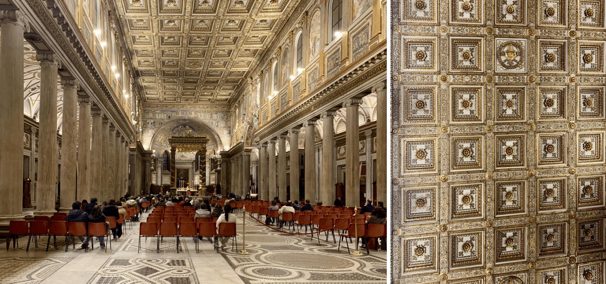 l'interieur de la basilique sainte marie majeure