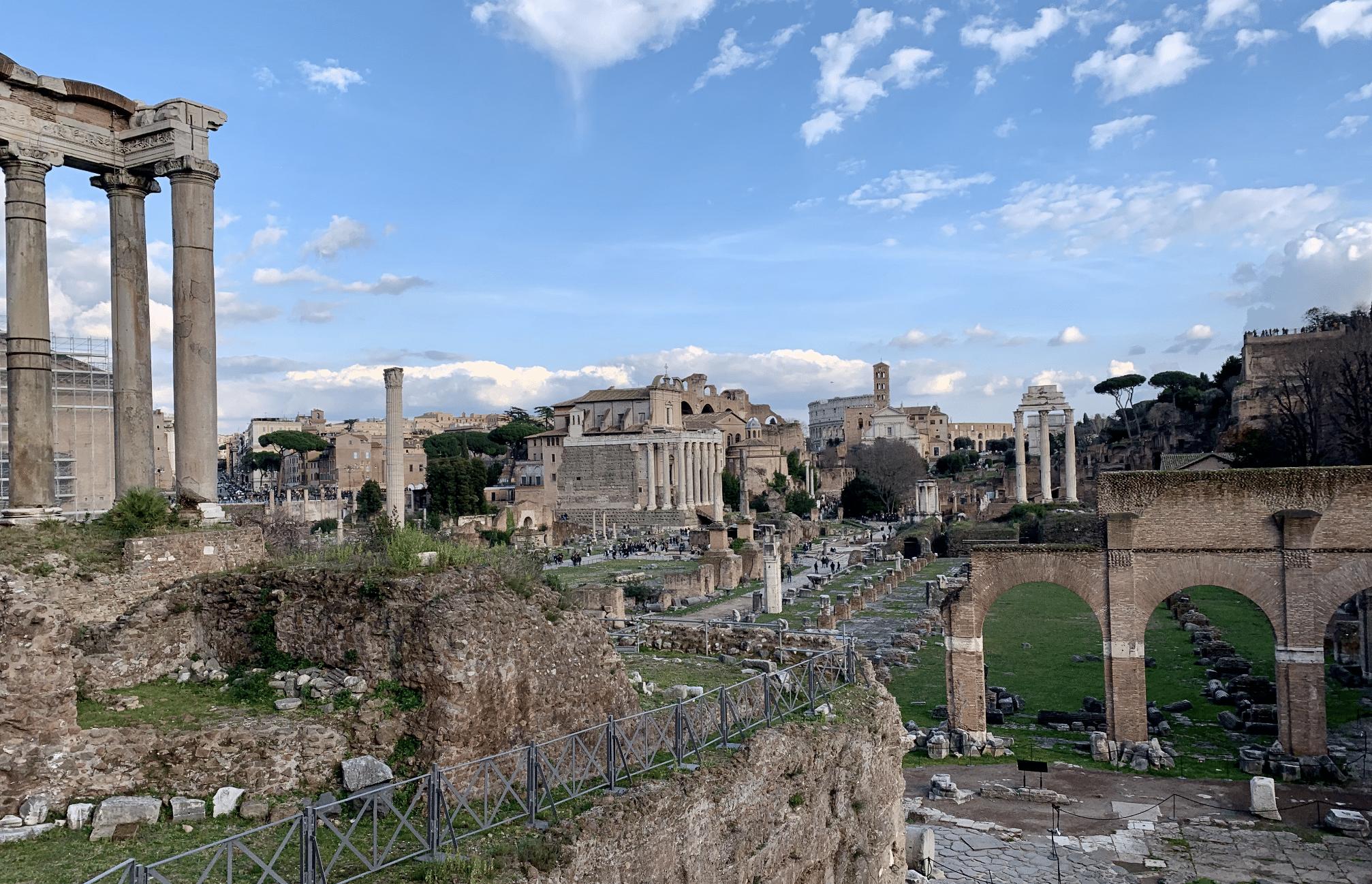 visiter rome : le forum romain