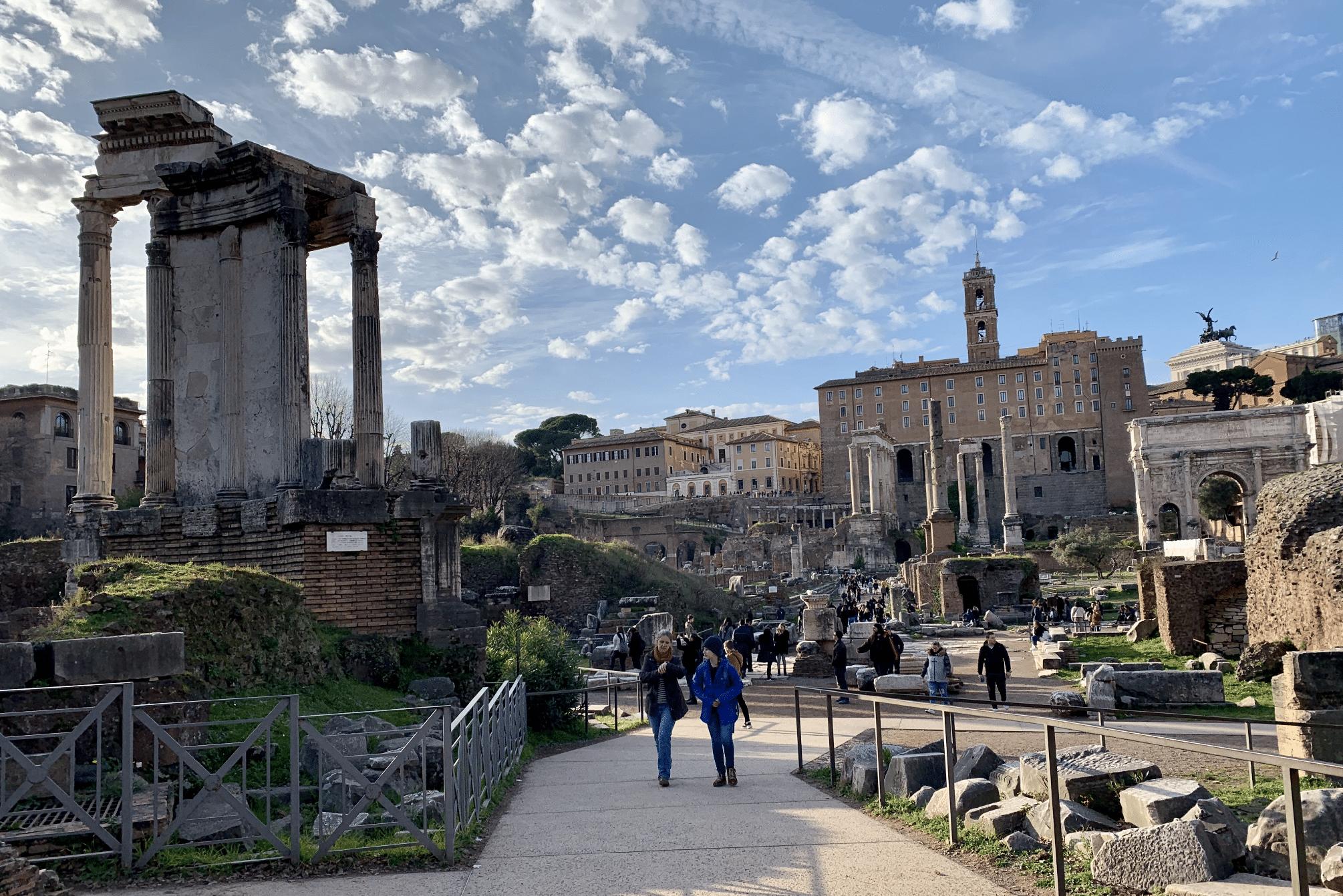 visiter rome : le foro romano