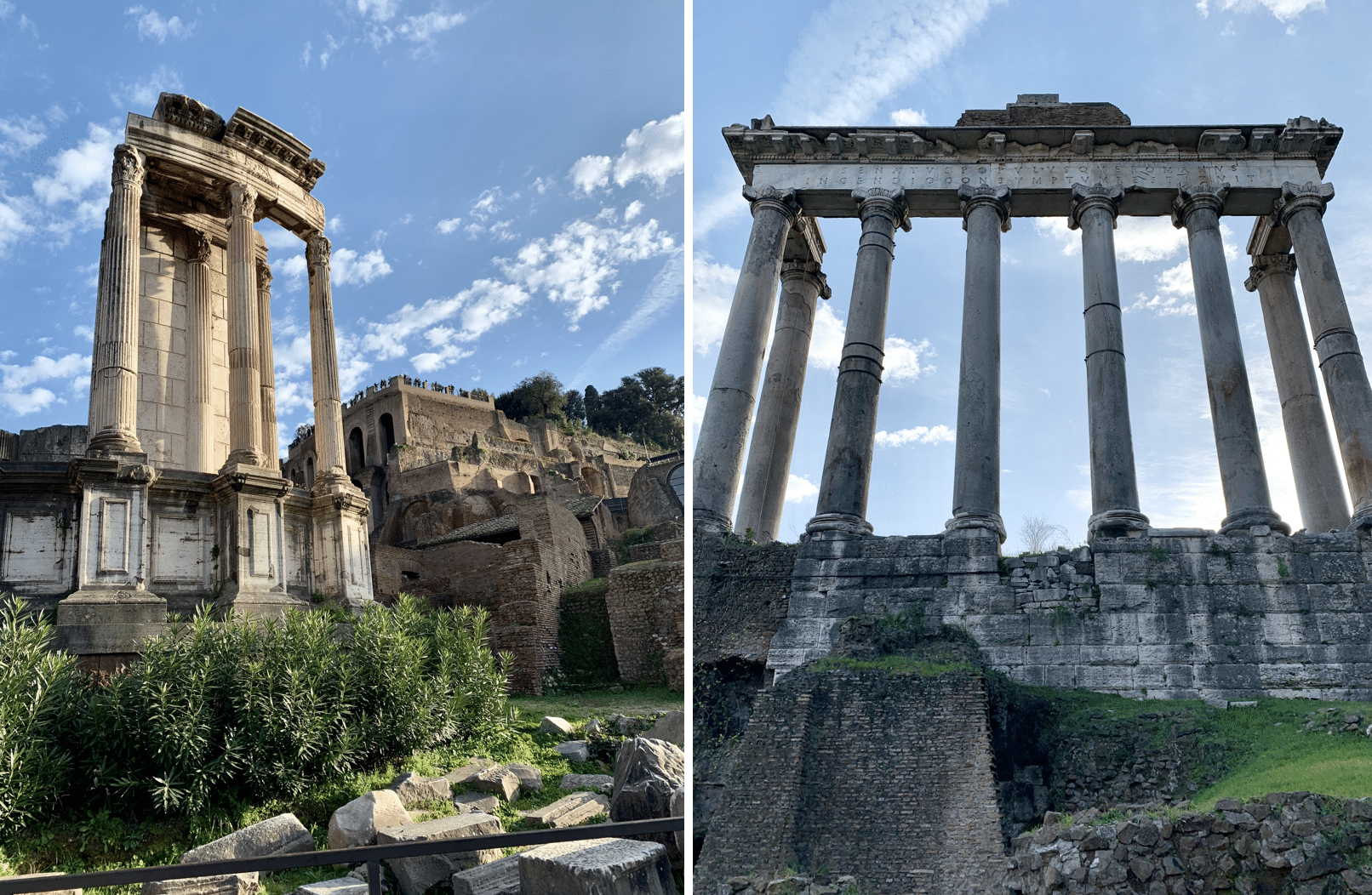 temple de vesta et temple de saturne