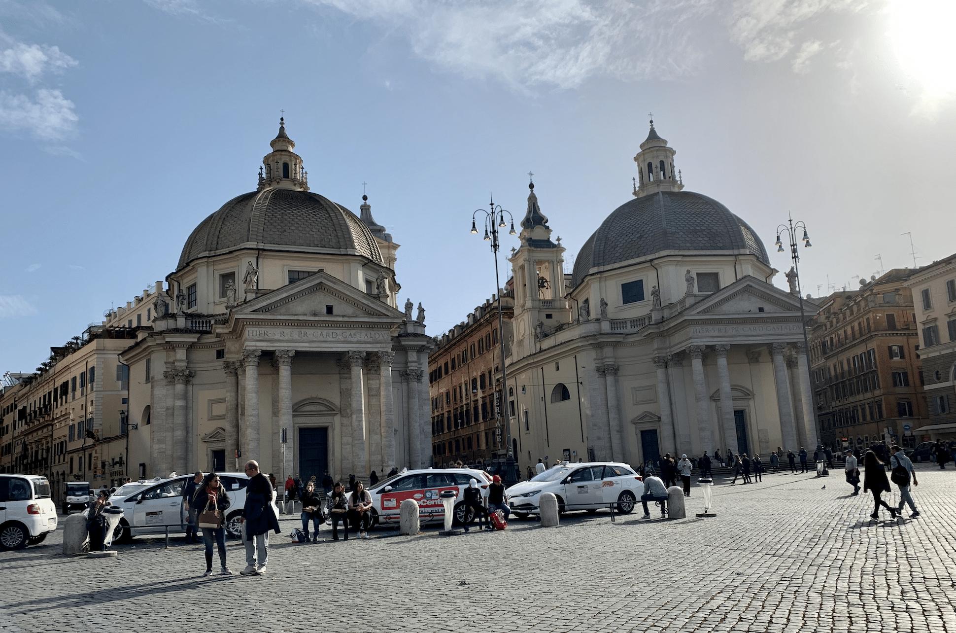 les eglises jumelles de la piazza del popolo