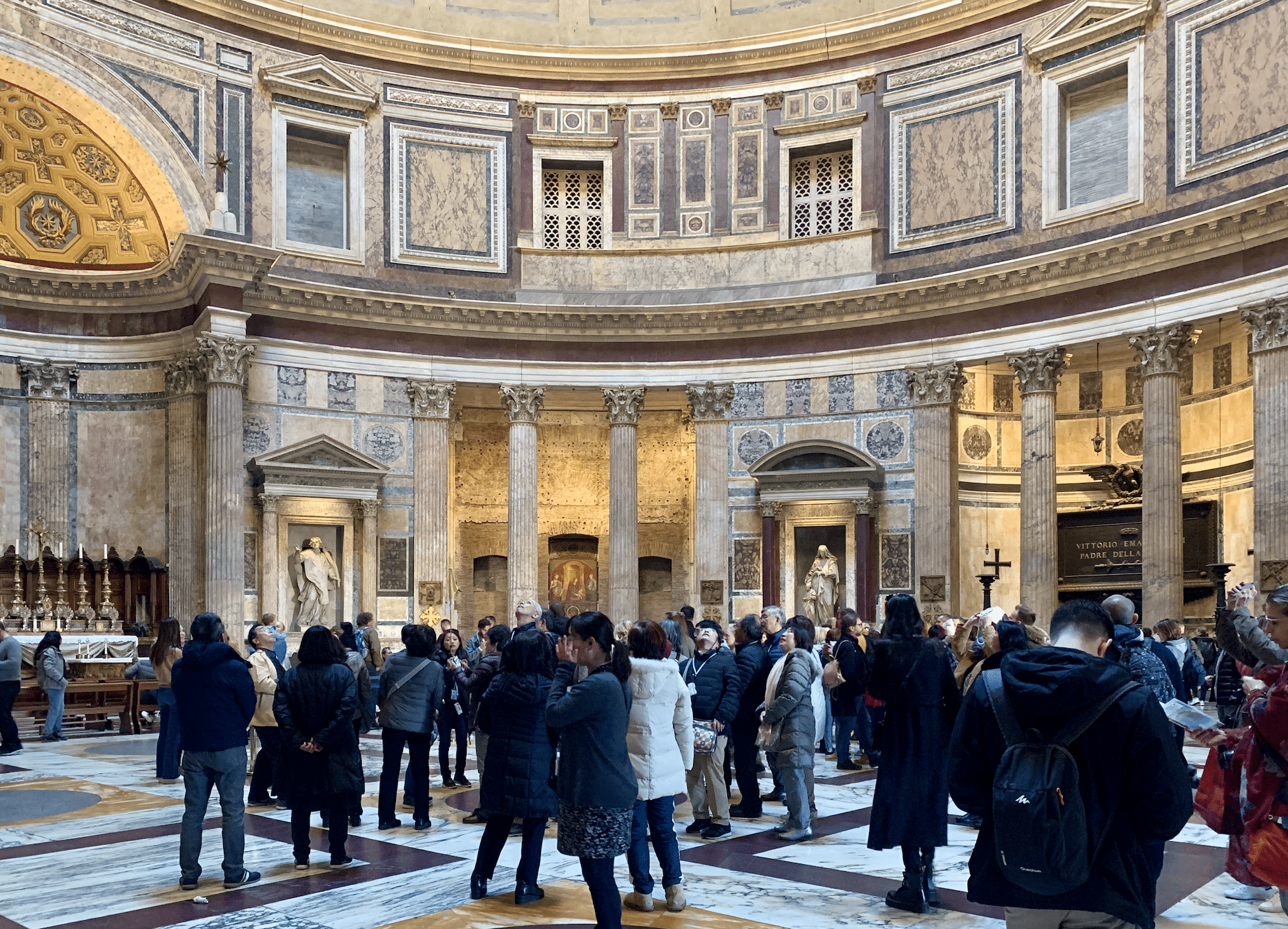 l'interieur du pantheon a rome