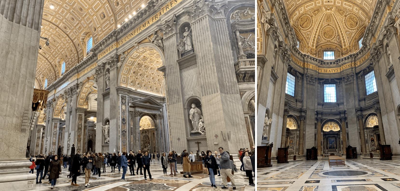 interieur de la basilique saint pierre au vatican