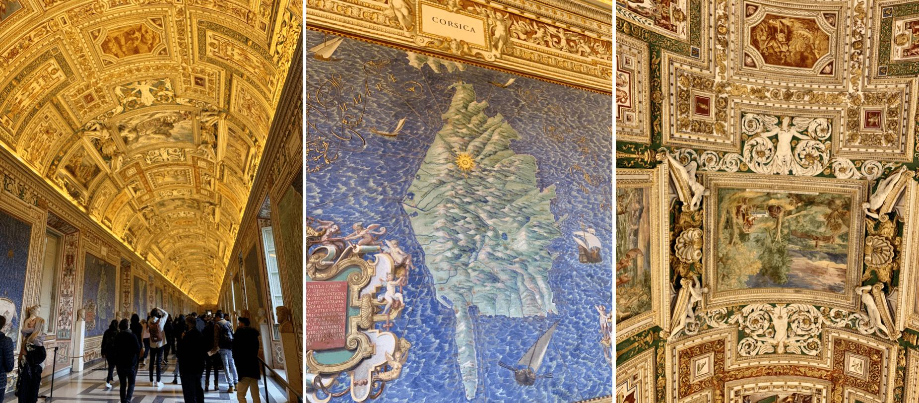 la galerie des cartes geographiques au vatican