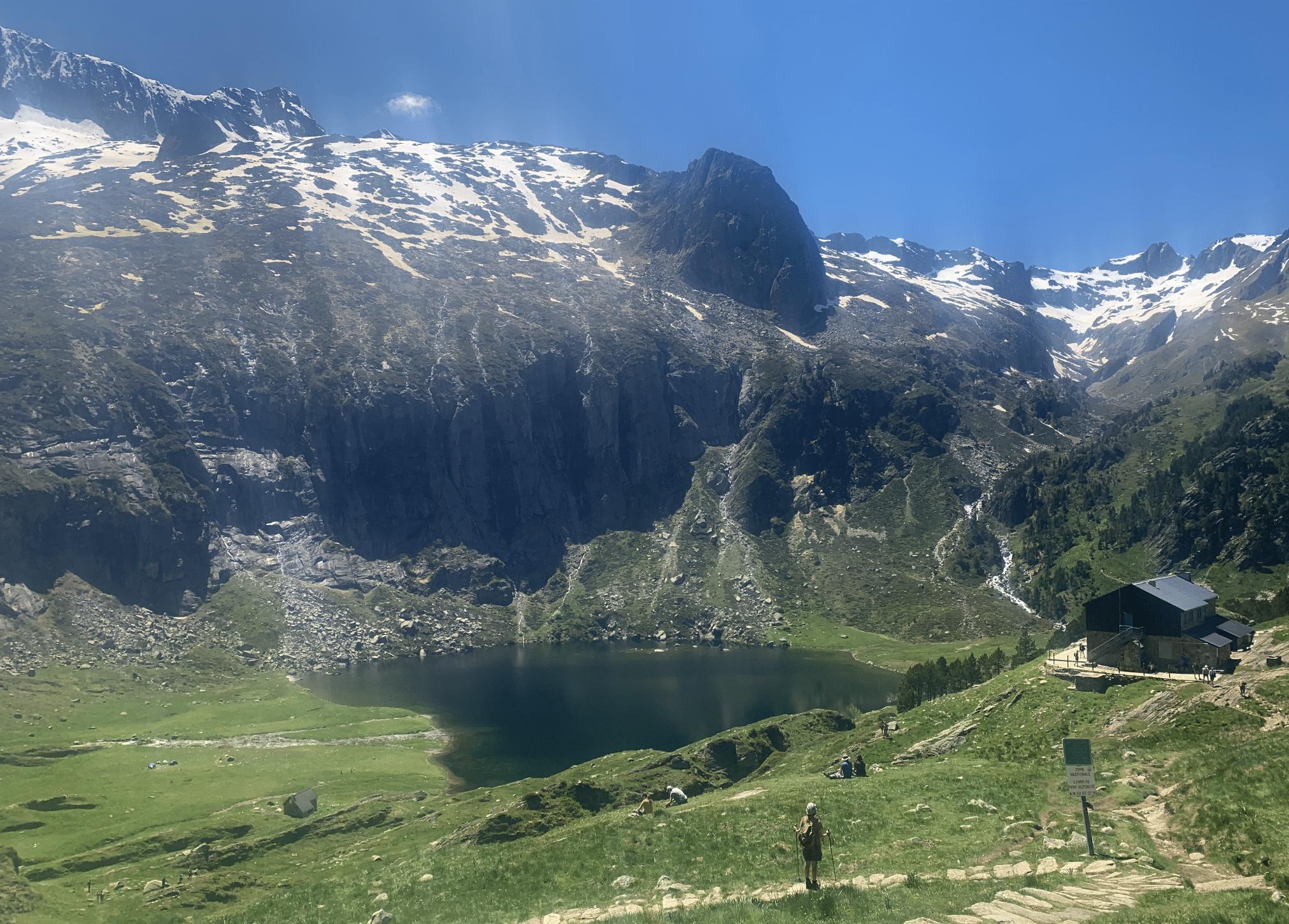 vue sur le lac d'espingo