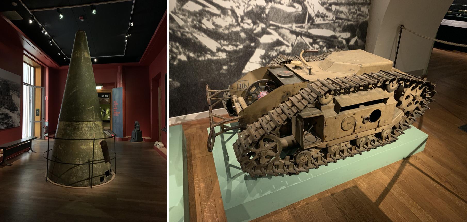 des armes utilisees pendant les guerres mondiales