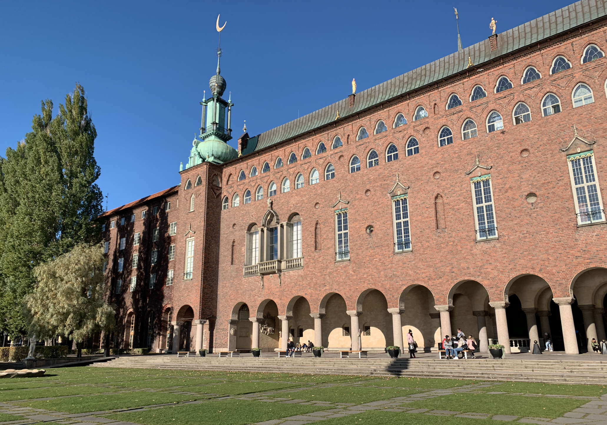 batiment de l'hotel de ville de stockholm
