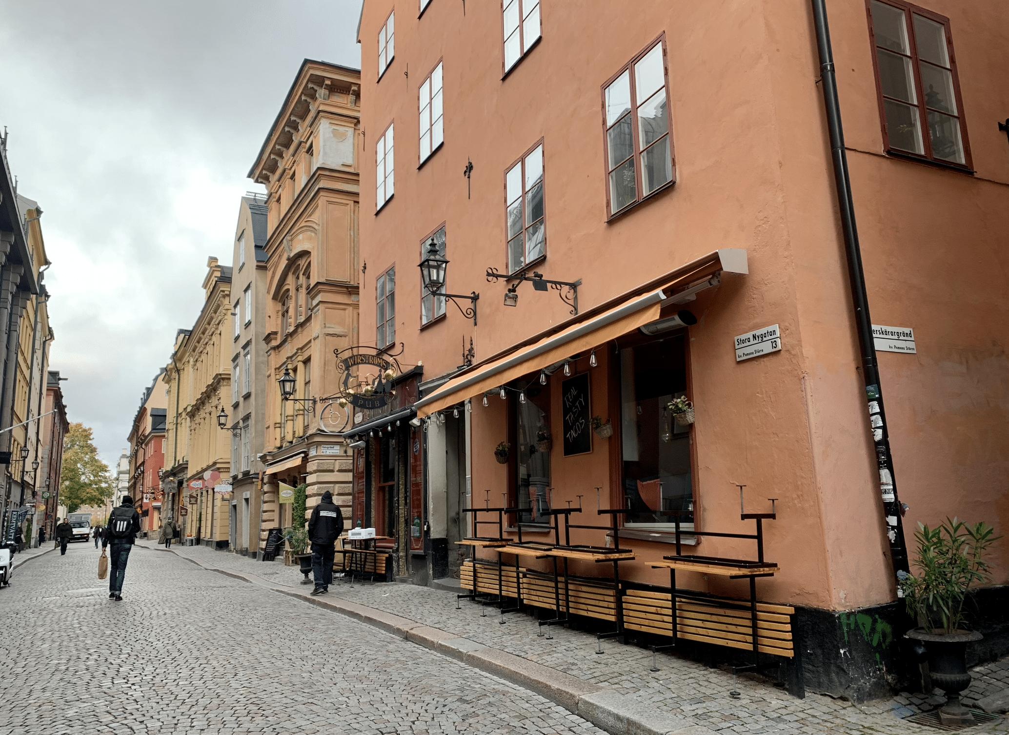 la rue stora nygatan a stockholm