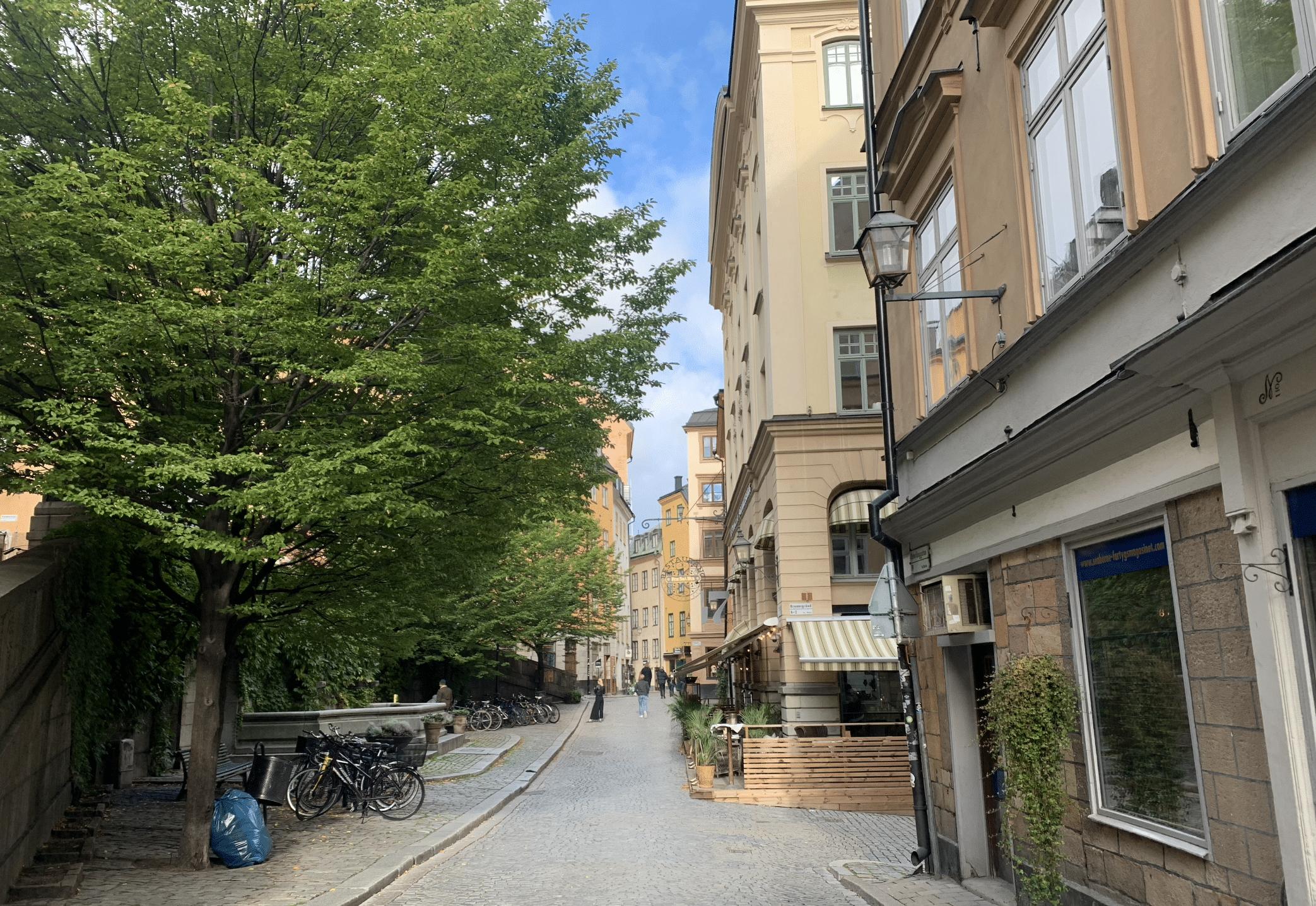 ruelles de gamla stan a stockholm