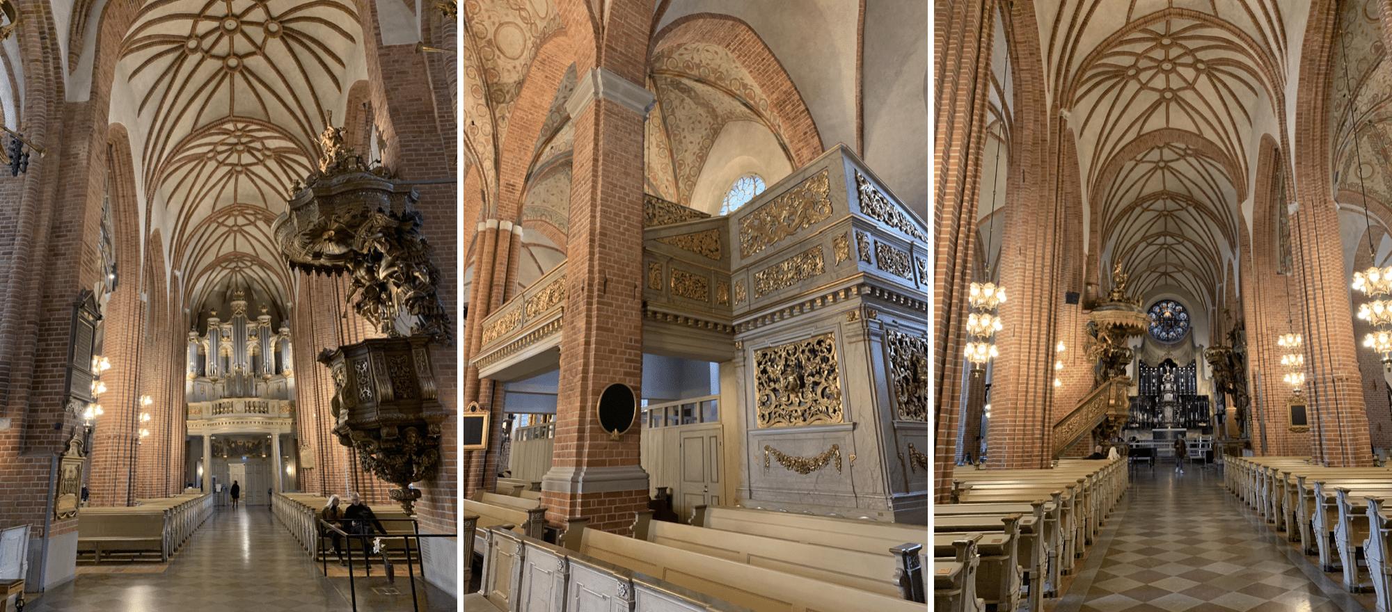 interieur de la cathedrale storkyrkan a stockholm