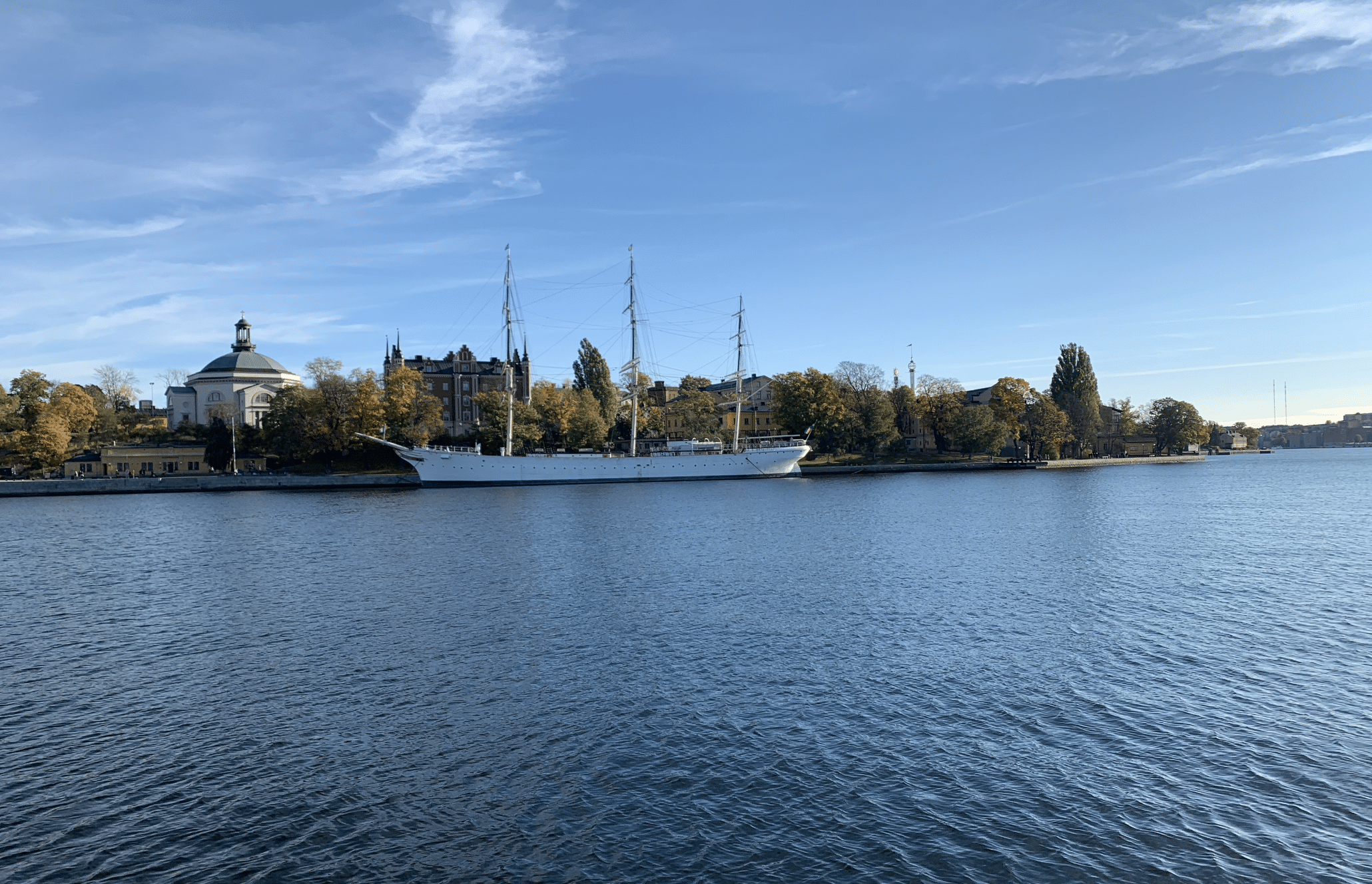 vue sur le bateau af chapman
