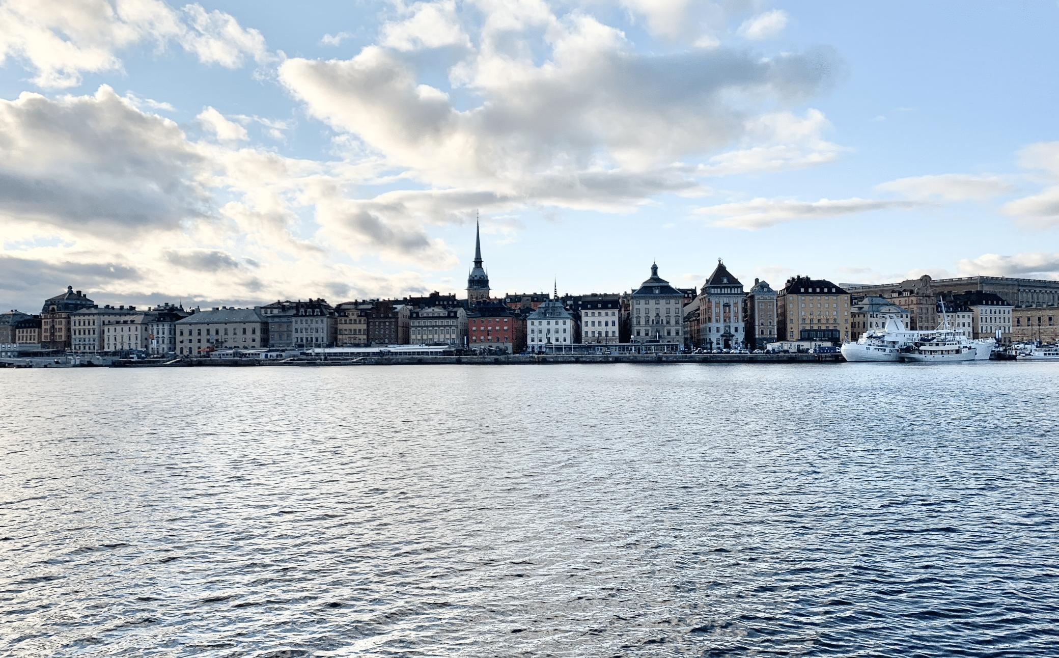 superbe vue sur le centre ville de stockholm