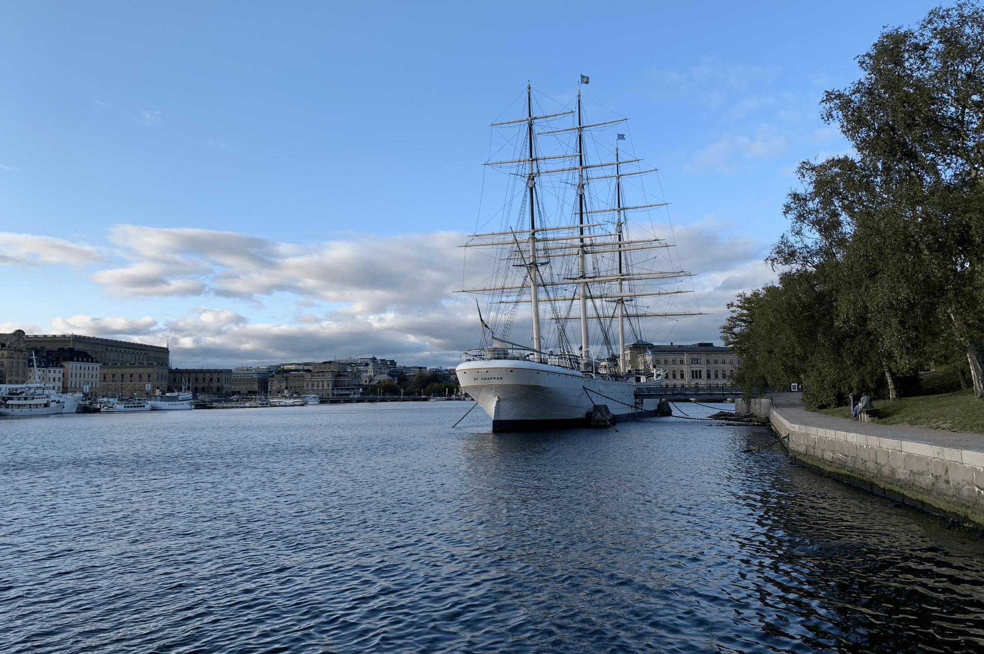 le trois-mats Af Chapman de stockholm