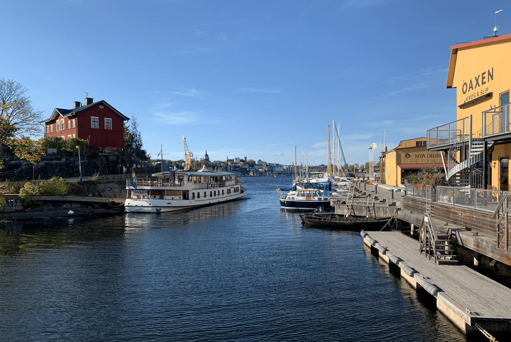 panorama depuis l'ile de beckholmen