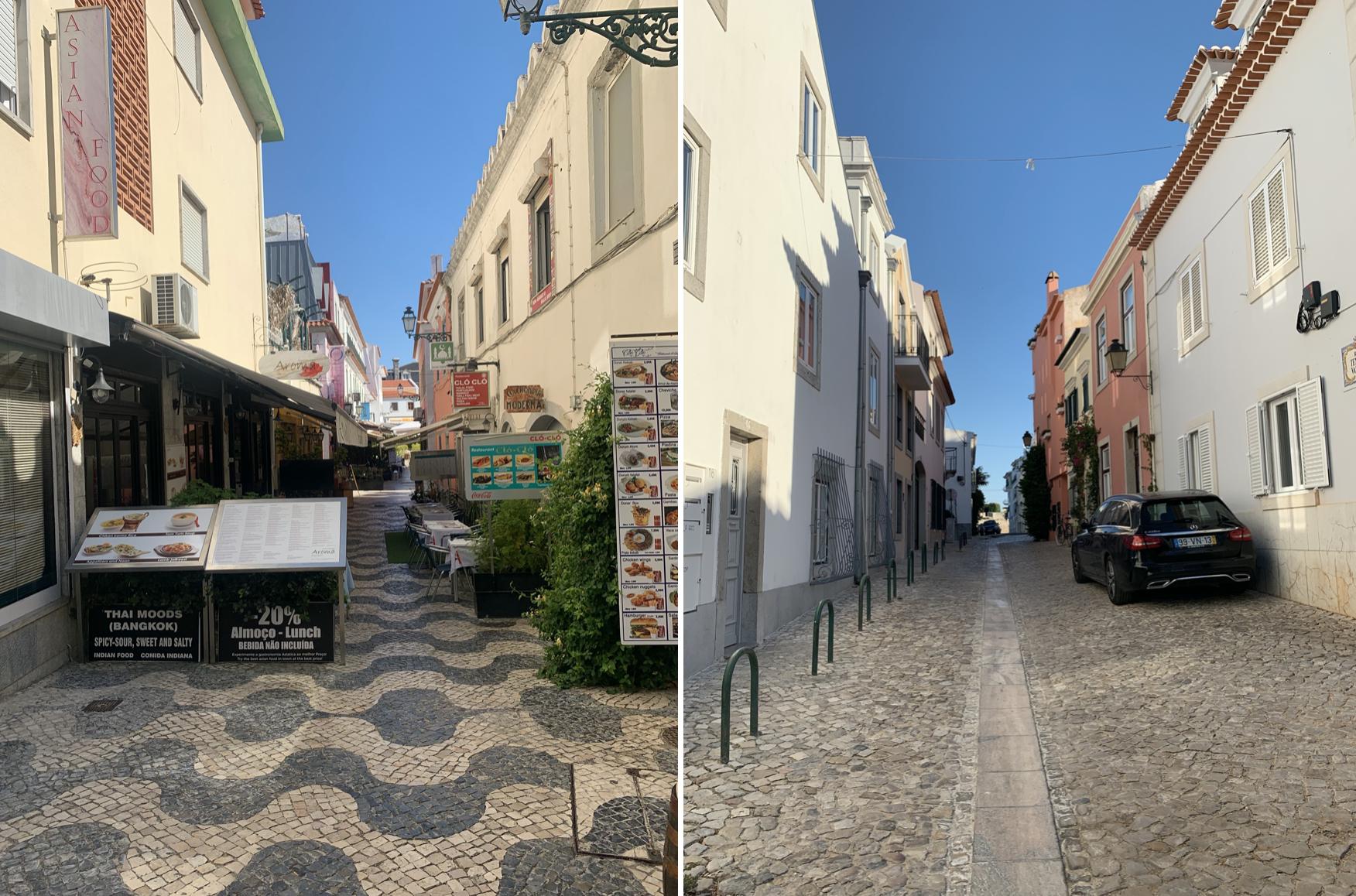ruelles de cascais au portugal
