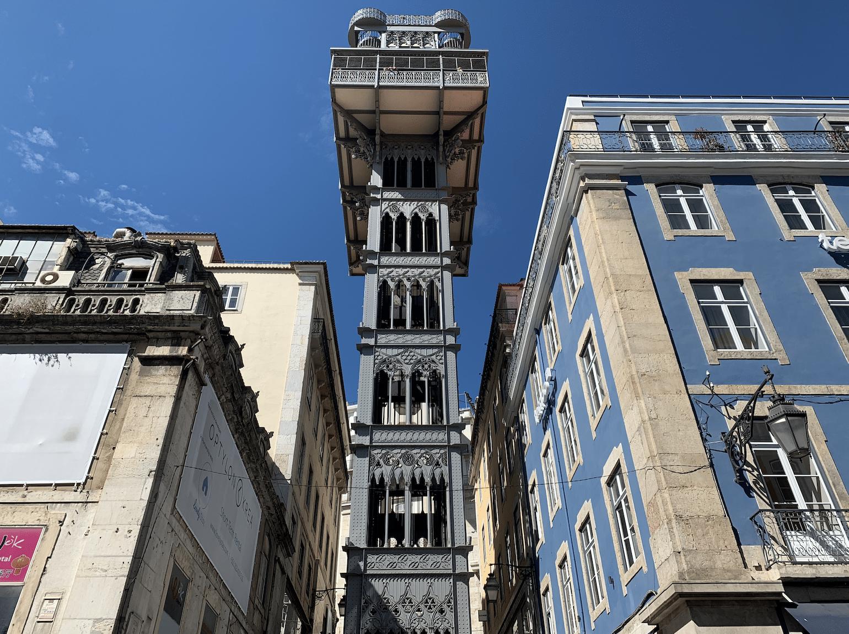que faire a lisbonne : l'ascenseur de santa justa