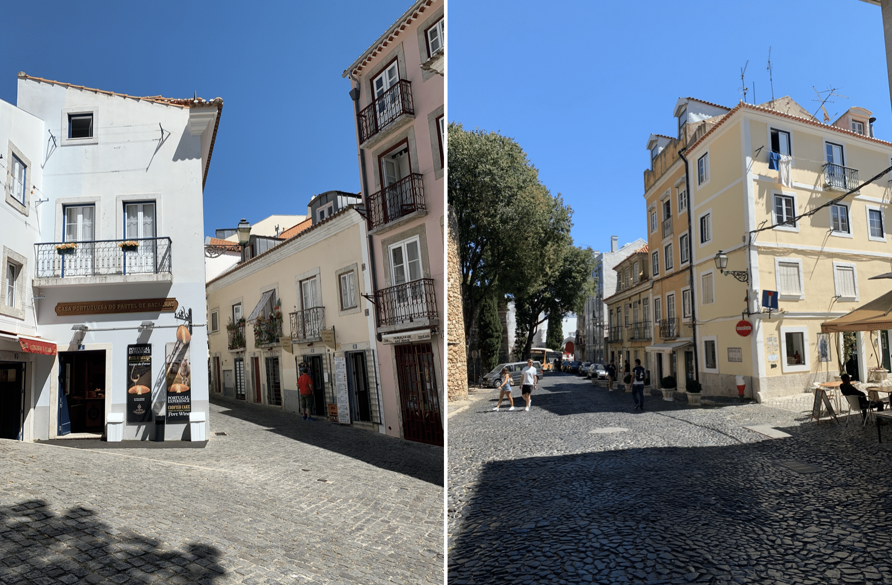 rues du quartier de castelo a lisbonne