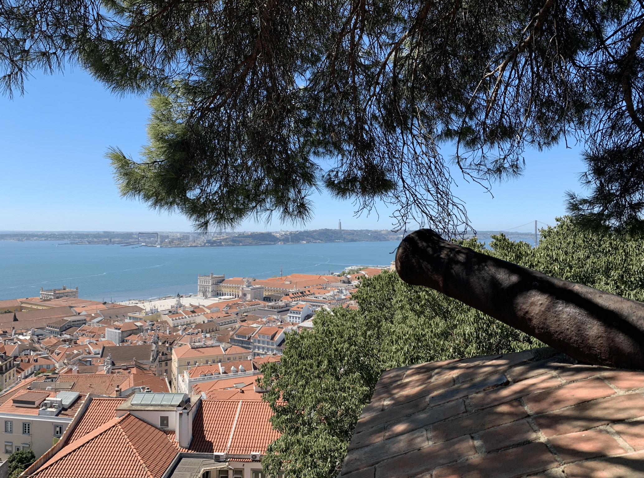 panorama sur lisbonne depuis le chateau saint georges