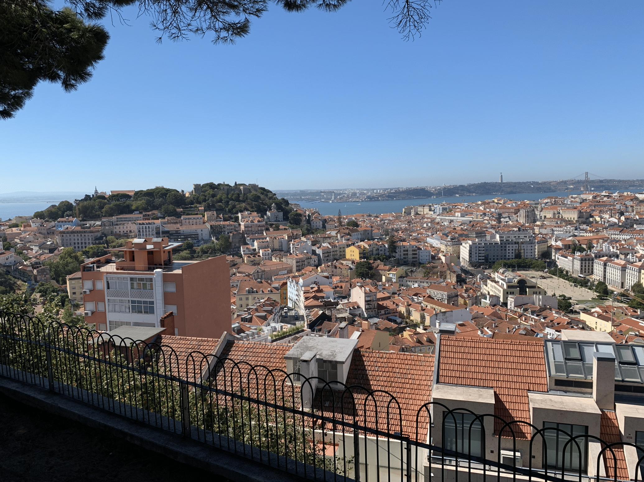 panorama depuis le miradouro da senhora do monte a lisbonne