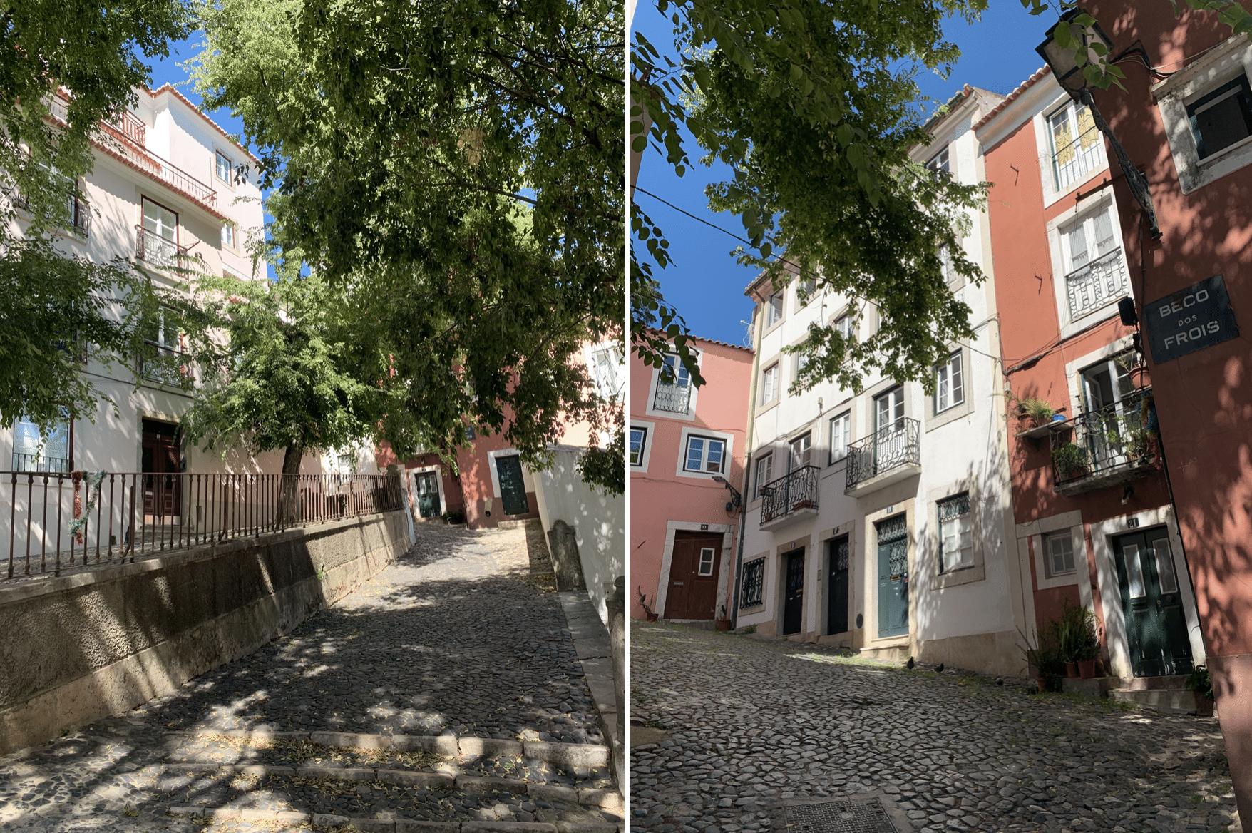 belles ruelles dans le quartier de graca
