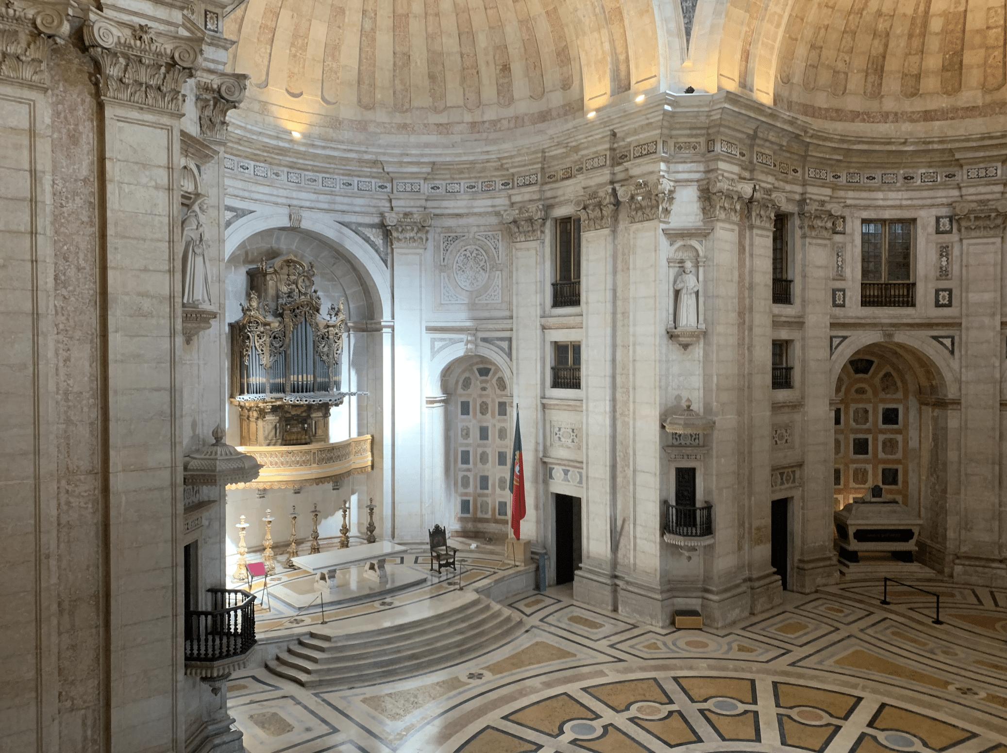 interieur du pantheon de lisbonne