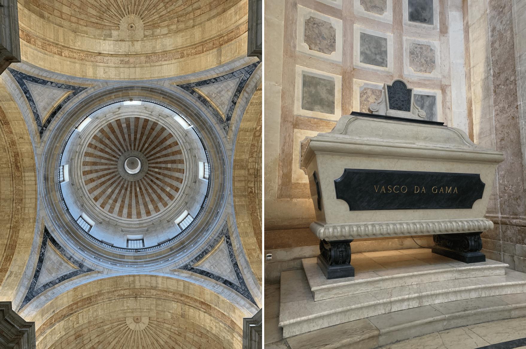 tombe de vasco de gama a l'interieur du pantheon