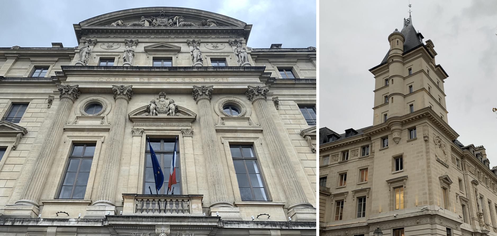 promenade sur l'île de la Cité : les batiments administratifs