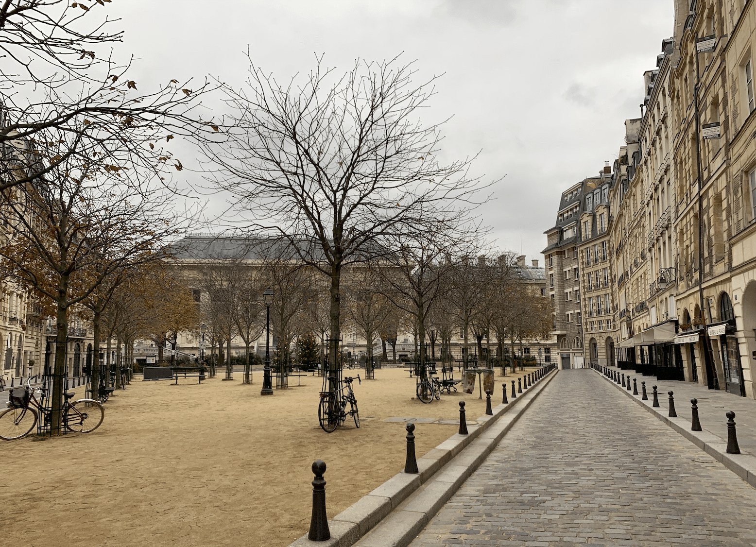 promenade sur l'île de la Cité : la place dauphine