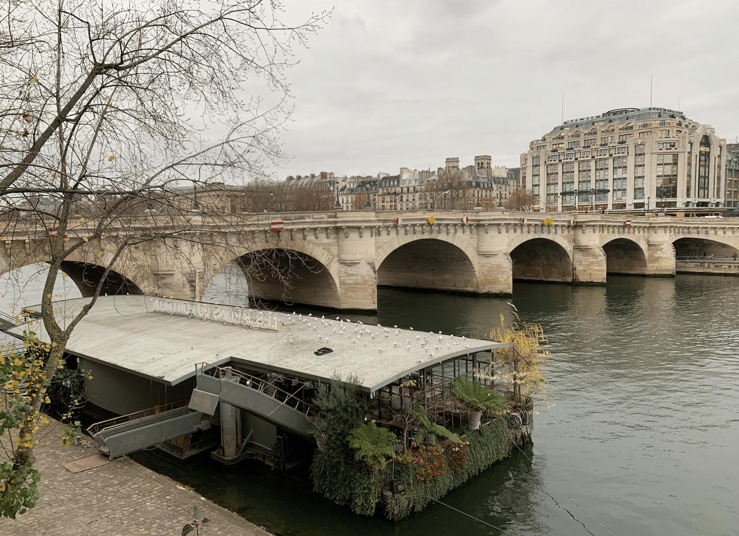 promenade sur l'île de la Cité : le pont neuf