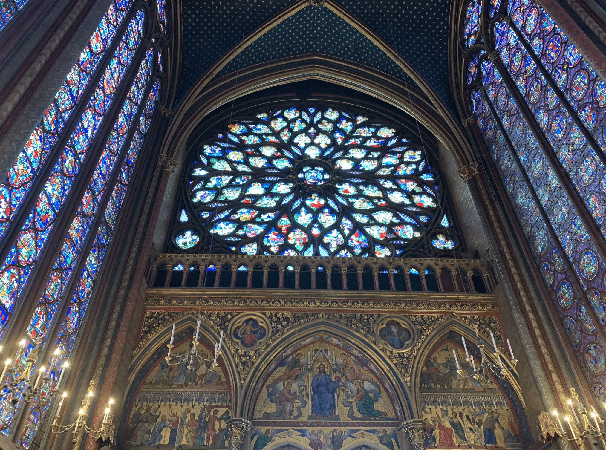 la rosace de la sainte chapelle