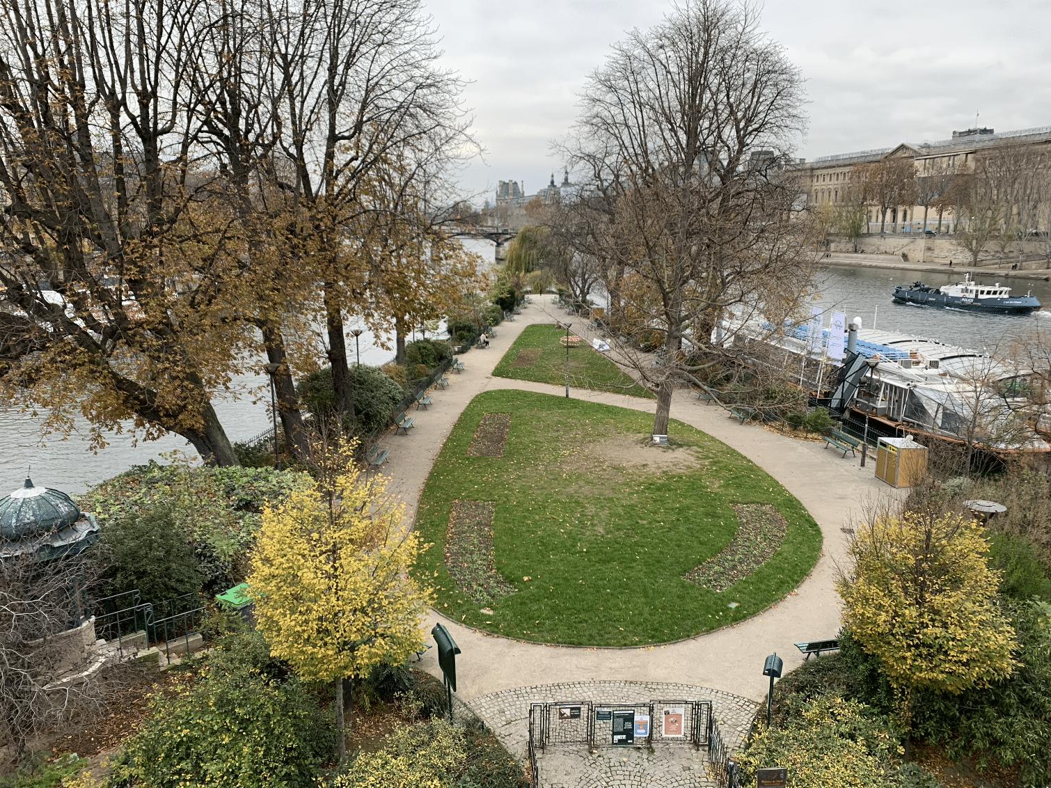 promenade sur l'île de la Cité : square du vert galant